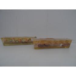 Aspics mousse de foie et macédoine