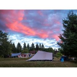 Emplacements de camping naturiste