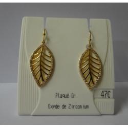 Boucles d'oreilles - Feuilles d'or