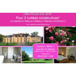 Offre spéciale « Eté 2019 » KIT Nature au Château d'Ettevaux