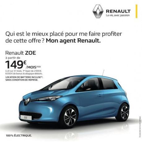OFFRE Renault ZOE - Garage Berthier