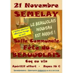 Beaujolais nouveau à Sémelay : 21 Novembre