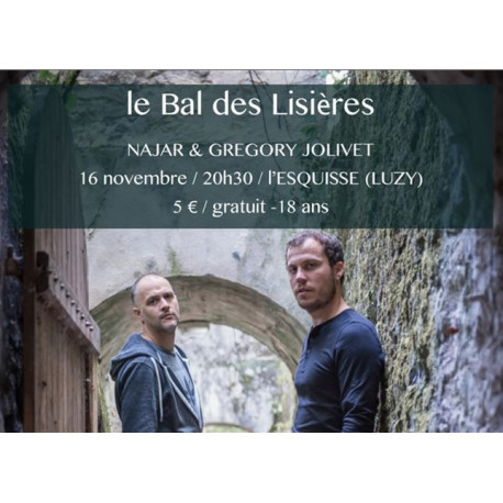 Ateliers musicaux - Bal des Lisières - Samedi 16 Novembre