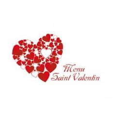 Menu St Valentin à l'Hôtel du Morvan - 14 et 15 février