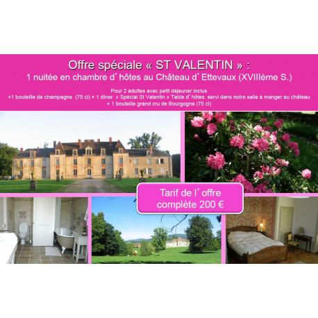 Offre spéciale « St Valentin » au Château d'Ettevaux