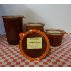 Compotes pommes cassis groseilles SANS SUCRE