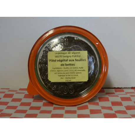 Pâté végétal aux feuilles de blettes (350 ml)